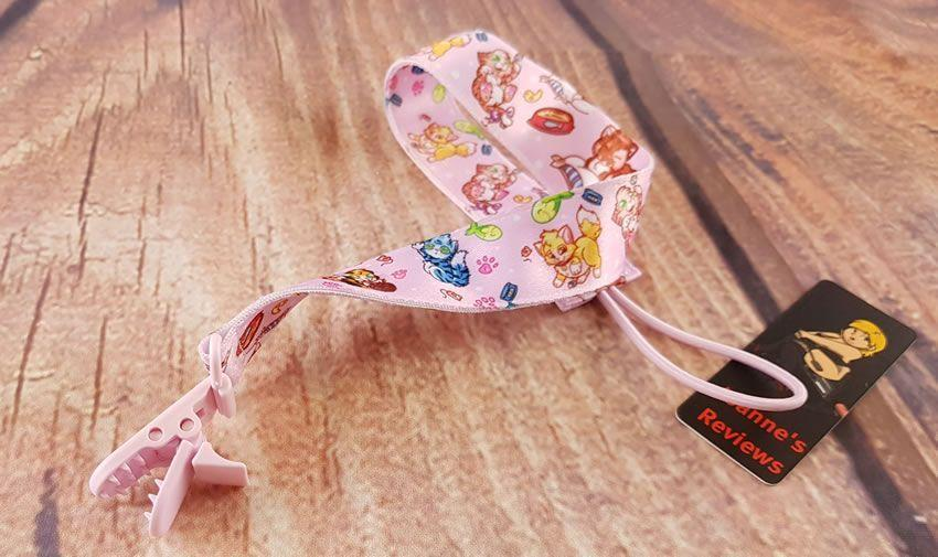 Image of the kitten pacifier clip