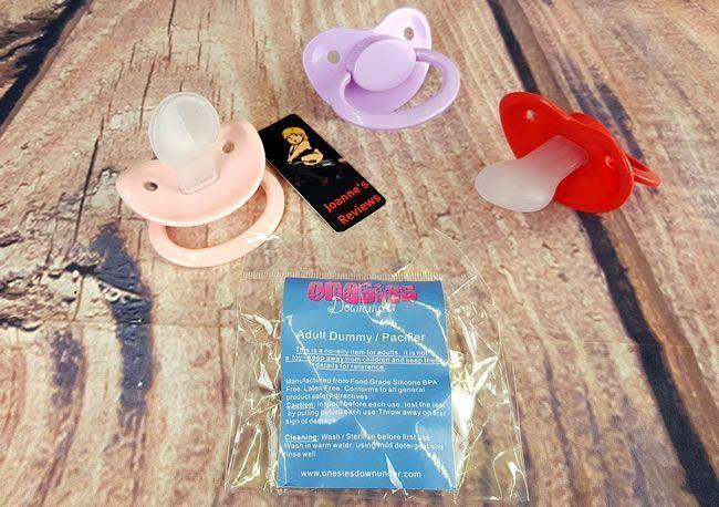 Image showing the three pacifiers and instructions