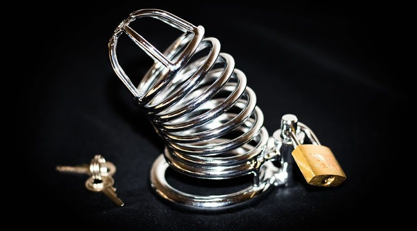 Image showing a cock cage chastity device