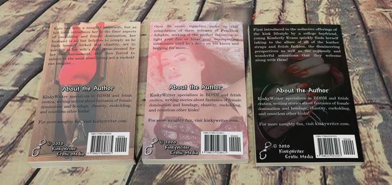 Image showing the back of all three books