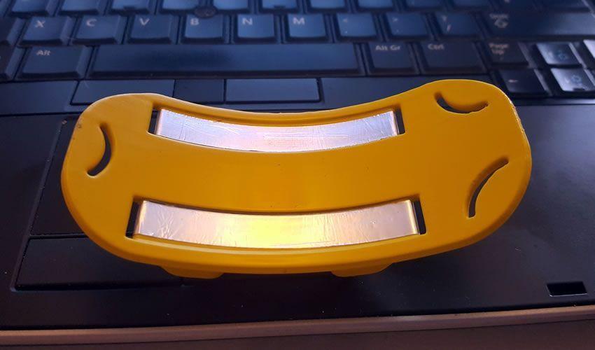 Image montrant le bouclier des lèvres avec ses surfaces conductrices