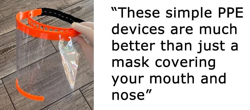PPE顔面シールドを示す画像
