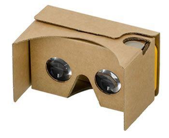 Zdjęcie przedstawiające zestaw słuchawkowy Google Cardboard