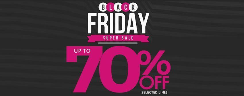 Black Friday Sale, até 70% off