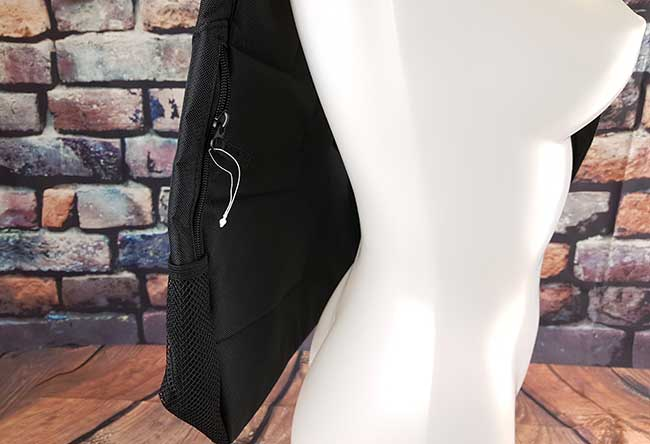 Image showing the small zip pocket and mesh pocket on the side of the bag