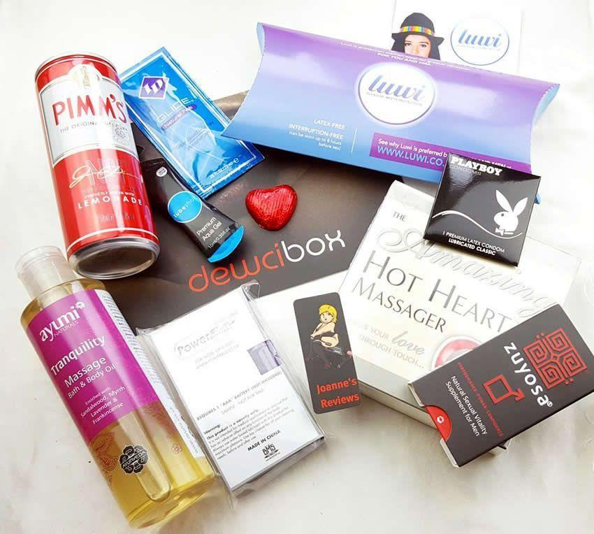 A great selection of products in the Dewci Box