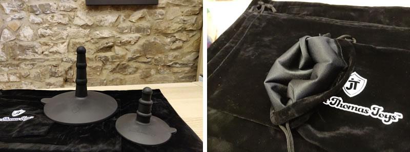 Obrázek ukazující vynikající adaptéry přísavek a kvalitní úložné tašky