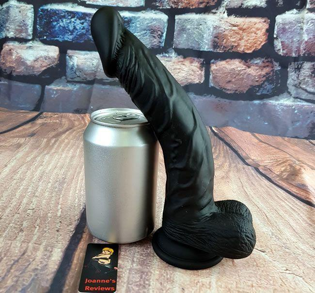Image showing the Taylor Silicone Dildo next to a soft drinks can