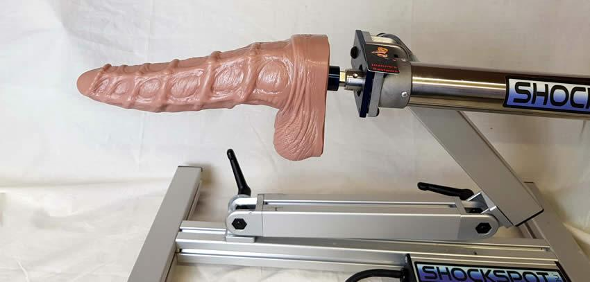 The Seahorse Dildo is amazing on a Fucking Machine