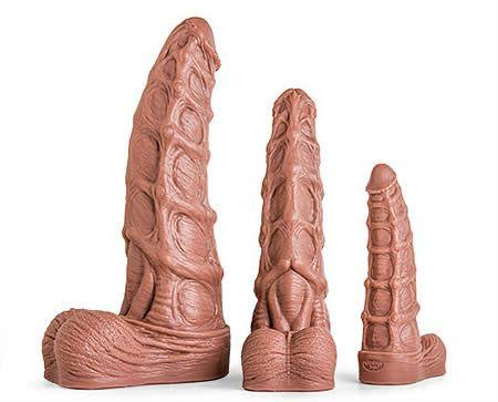 The Seahorse Dildo is available in three huge sizes