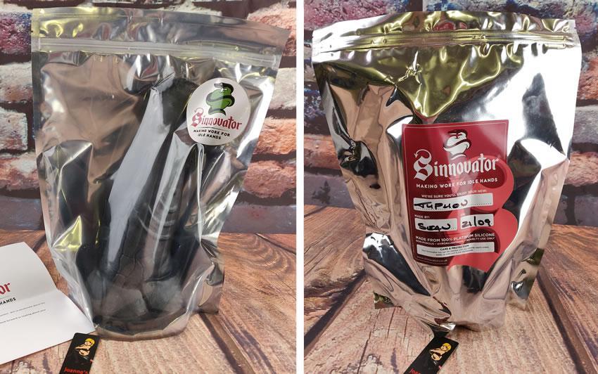 A Sinnovator Typhon vibrátor csomagolását ábrázoló kép