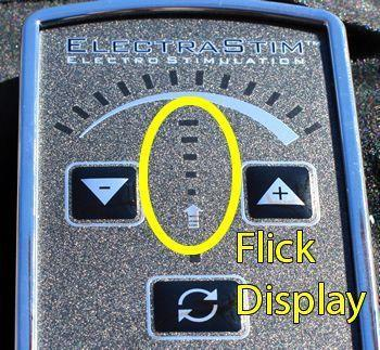 The Flick display is simple to use