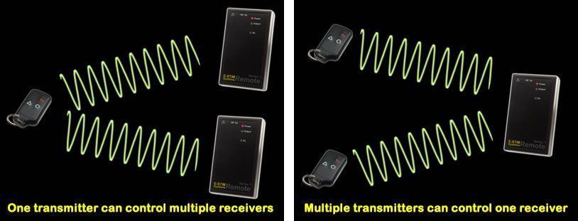 Image showing different ways to control the remote system using the trnasmitter