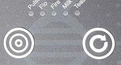 ElectroHelix har to tasktile knapper