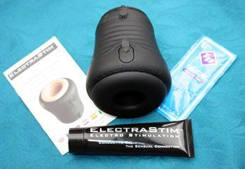 The Jack Socket comes with lube and e-stim gel