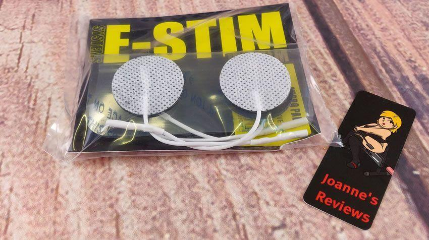 Image showing the packaging of the E-Stim Systems micro pad electrodes