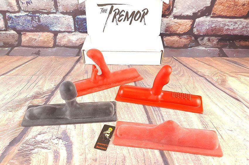 Image showing the four silicone attachments that I tested for the Tremor