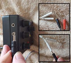 The plugs and sockets on the electrode are very small indeed