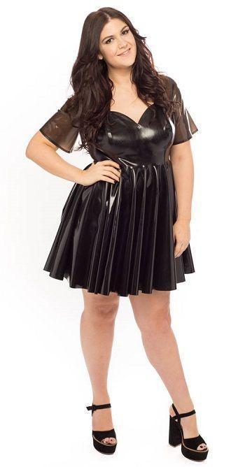 Amazing hand made latex plus sized dresses from kinkcraft