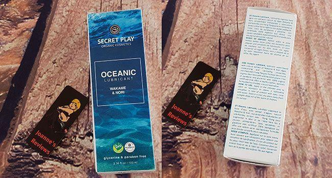 Secret Play Oceanic Lube kommer i en mycket fin låda med mycket information