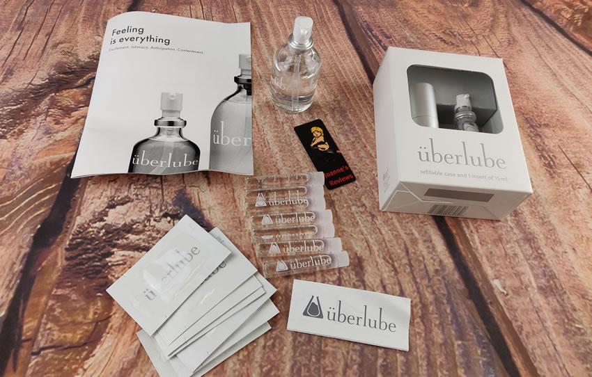 Image showing the Uberlube samples we were given at erofame