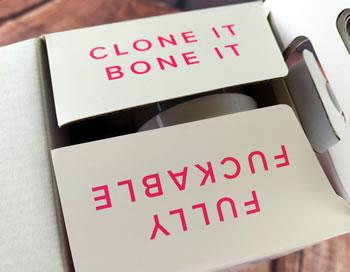 Image showing the funny message on the box