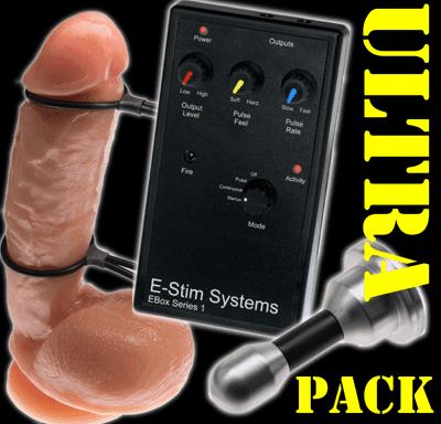 Intro2Her e-stim-pakkaus emättimen elektrodilla ja tyynyillä