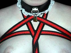 Image showing sub'r' in a rope harness