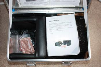The machine arrived in a very secure aluminium transit case