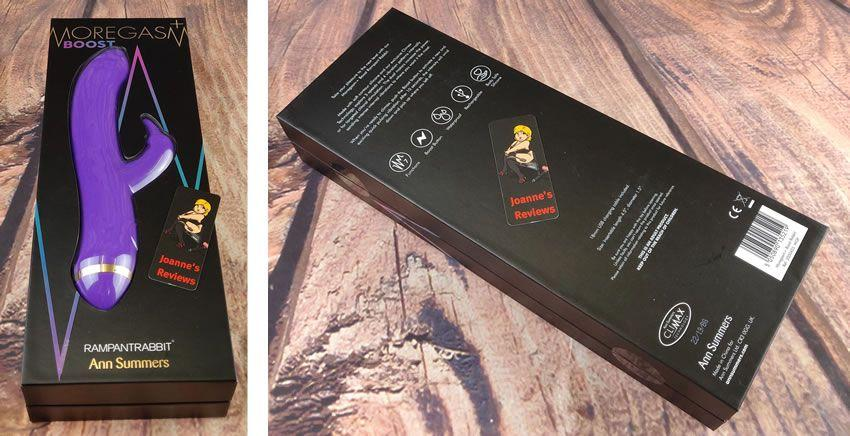 Image showing the packaging of the Moregasm+ Boost Rampant Rabbit