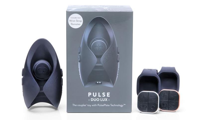 Image showing Pulse Duo Lux, its controls and packaging