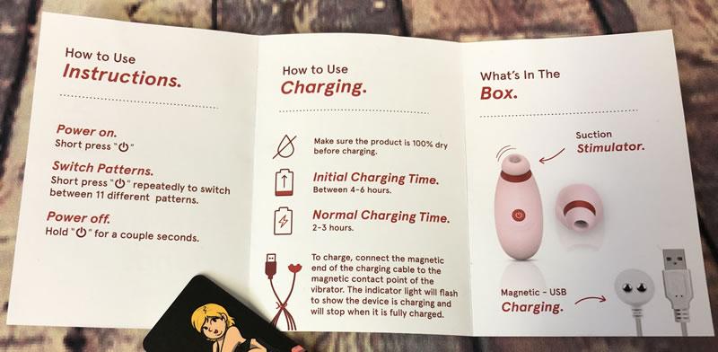 Obrázek zobrazující jednoduché pokyny pro stimulátor