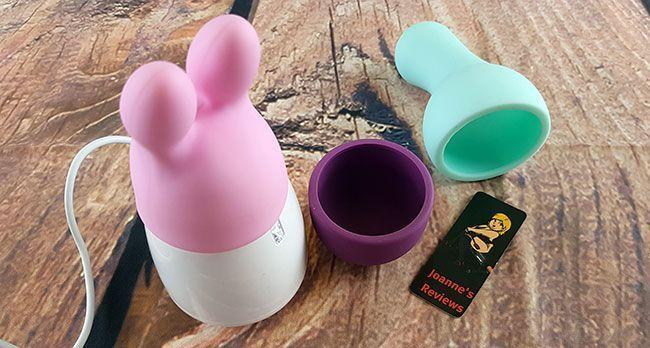 The Sola Egg Massager with its three silicone sleeves has something for everyone