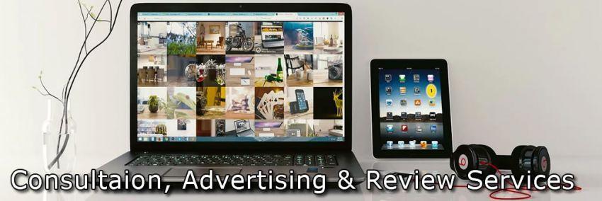 Servicios de redacción, publicidad y consulta para adultos