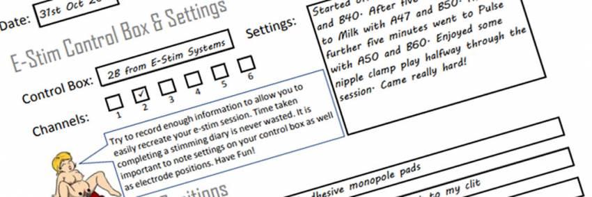 E-Stim Session Diary