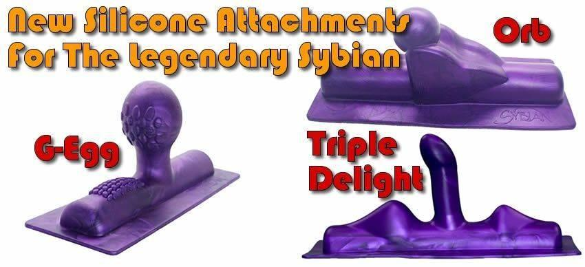 Nouvel attachement Sybian Silicone G-Egg, Orb et Triple Delight