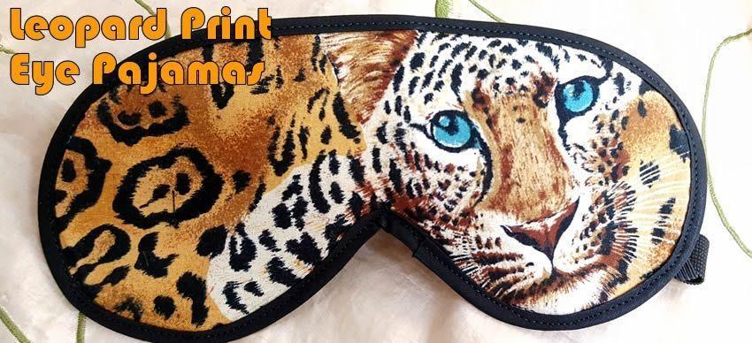 Leopard tiskové oční pyžamo