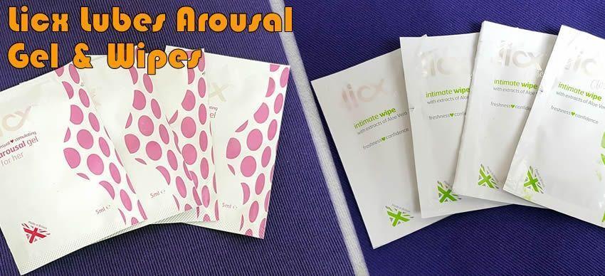 Vzrušující gel a intimní ubrousky od společnosti Licx.co.uk