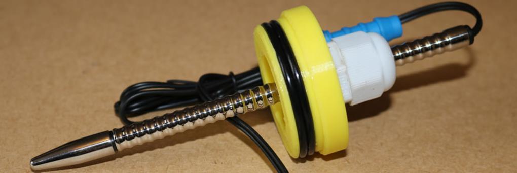 DIYペニス真空ポンプE-Stim Sounding電極の作り方