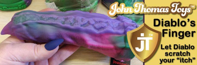 Фаллоимитатор из силикона для пальцев Diablo от John Thomas Toys