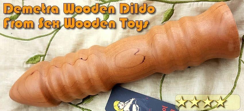 Demetra Wooden Dildo fra Sex Trælegetøj