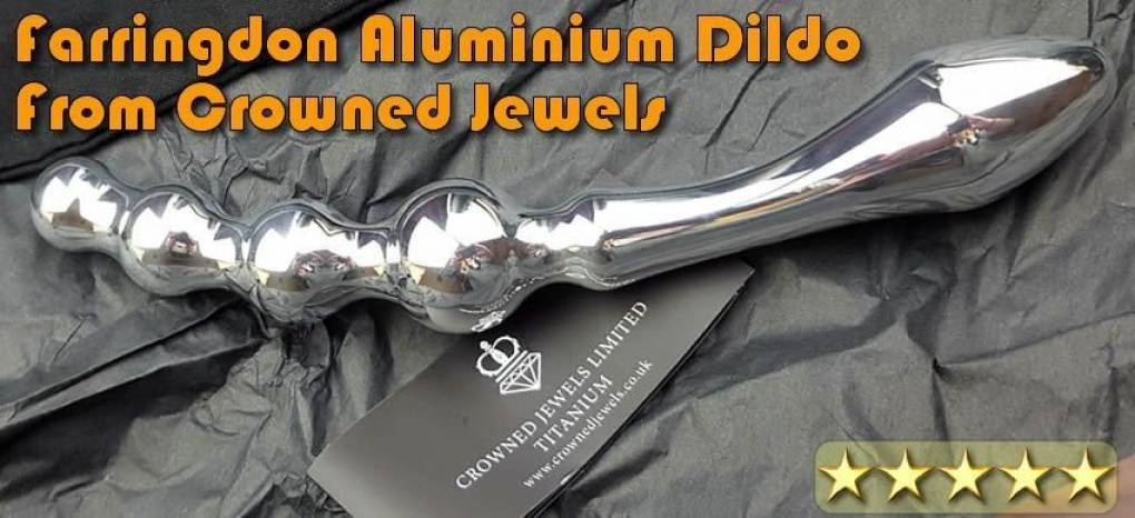Farringdon gepolijst aluminium dildo - Van www.crownedjewels.co.uk