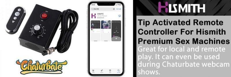 Afstandsbediening en app voor Hismith Premium-seksmachines