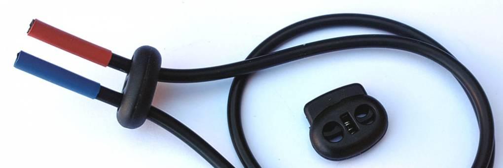 Électrodes estimées en caoutchouc conducteur