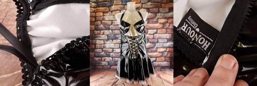 الشرف خادمة PVC لخدمة اللباس & أمبير ؛ قبعة