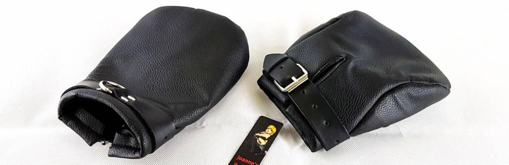 Bondara Black Faux Leather Bondage Mitts Review