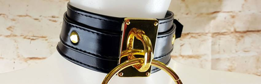 Lady MEO - Ring of O BDSM Collar - Gold