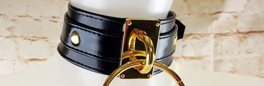 Lady MEO - Obroża Ring of O BDSM - Gold