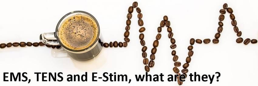 TENS、EMS、E-stim機器の違いは何ですか