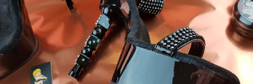 Pleaser Dice 616 Black Rhinestone Embelished Casino Themed Heels